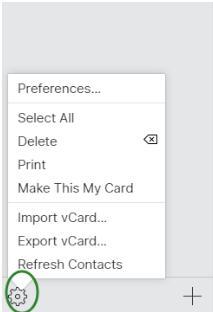 Export vCard
