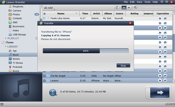 Transfer iTunes music to external hard drive