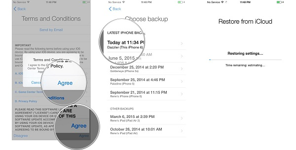 How to restore game center data on iphone