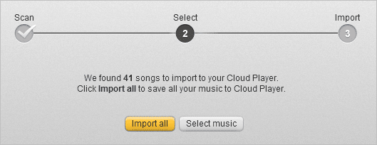 select all songs