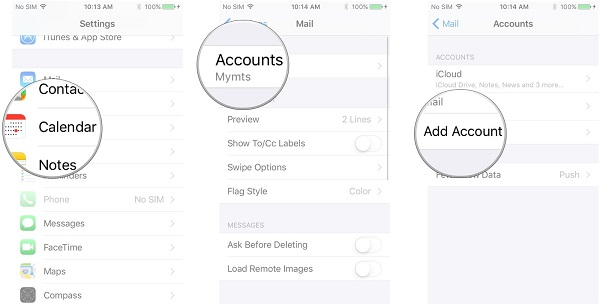 Add Gmail account on iPhone