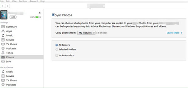 click on Choose folder