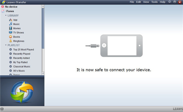 Launch iTransfer and Connect iPhone to Laptop