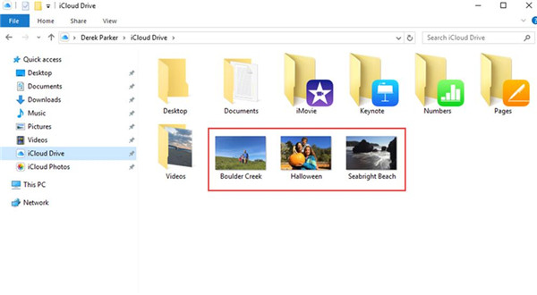 find the iCloud Drive folder