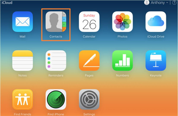 navigate to iCloud.com