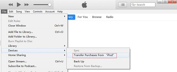 Transfer Purchases from iPod