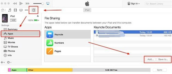 Transfer Data from Mac to iPod via File Sharing