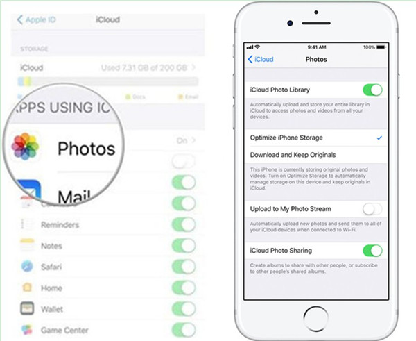 Sync iCloud Photos to iPhone