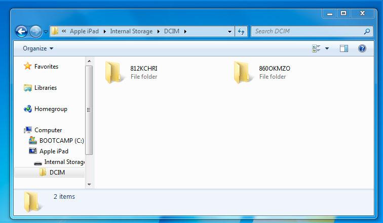 Visit DCIM Folder
