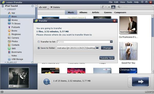 Set Output Folder and Transfer Video