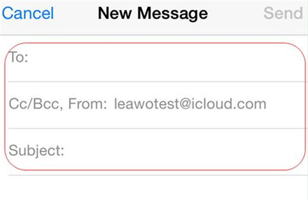 Fill in the necessary information in the new email