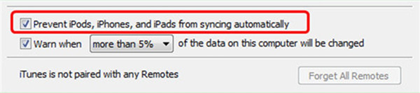 Prevent iPods, iPhones, and iPads from syncing automatically
