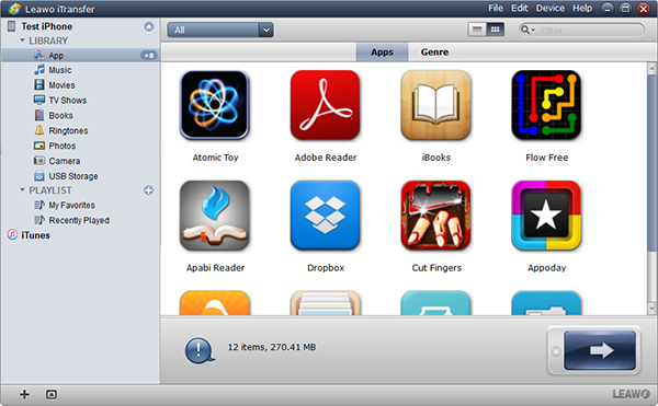 Launch Leawo iTransfer and Connect iPhone to PC