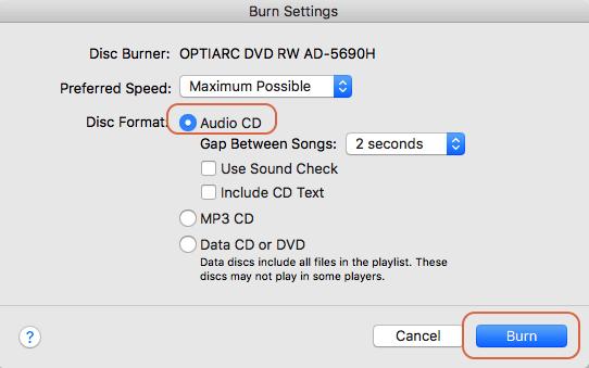Burn iTunes DRM audiobooks to CD