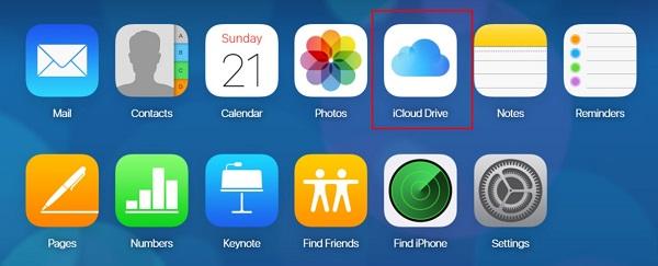choose iCloud Drive