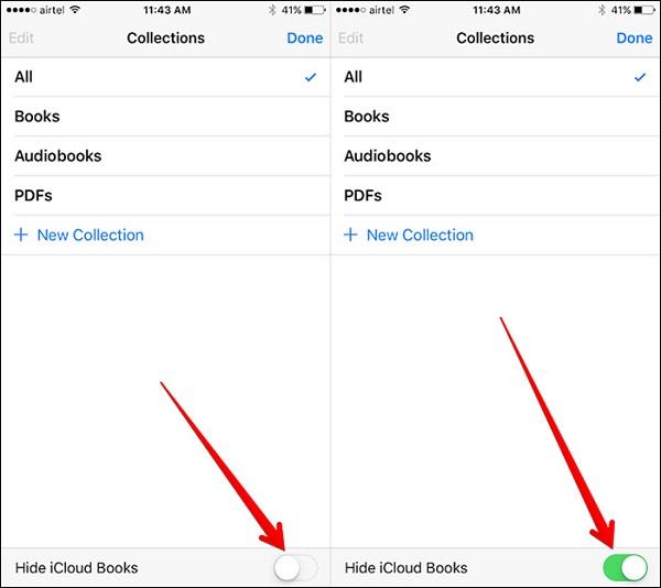 Hide iCloud Books in iBooks