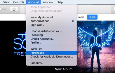 Sign into iTunes with your Apple ID