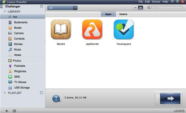 Choose Apps Library