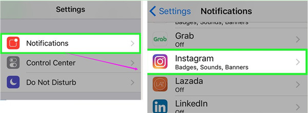 how to allow push notifications on iphone