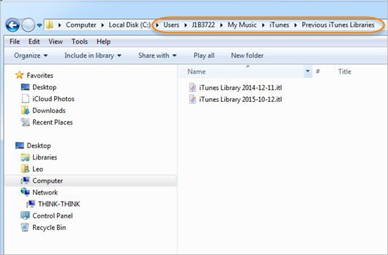 Rebuild iTunes Library in Windows and Mac OS