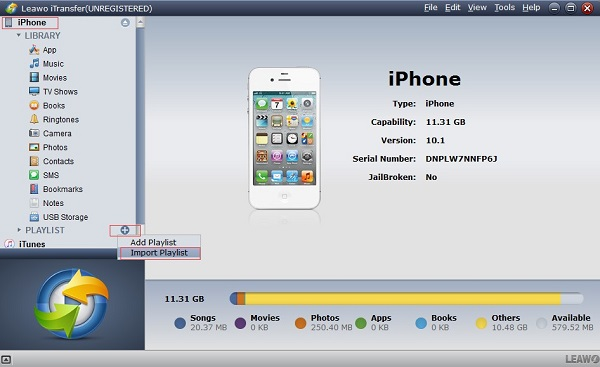 Connect iPhone to Computer and Launch Leawo iTransfer