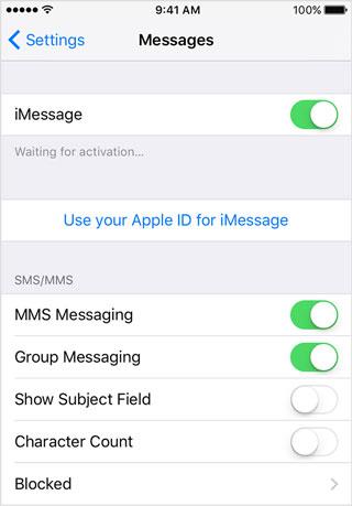 Re-start iMessage