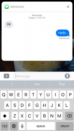 Reply to Messages on Lock Screen iOS 11