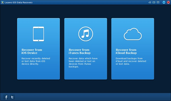 Start Leawo iOS Data Recovery