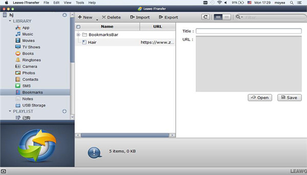 Transfer bookmarks from Mac to iPhone