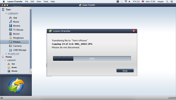 Transfer photos from Mac to iPod