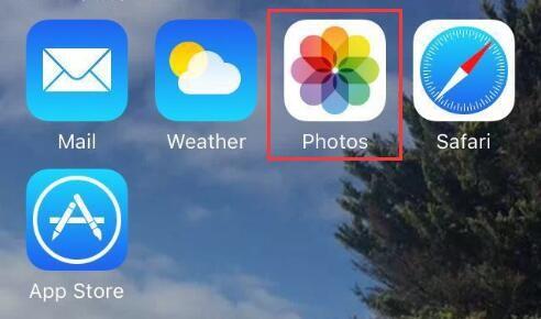 Choose Photos app