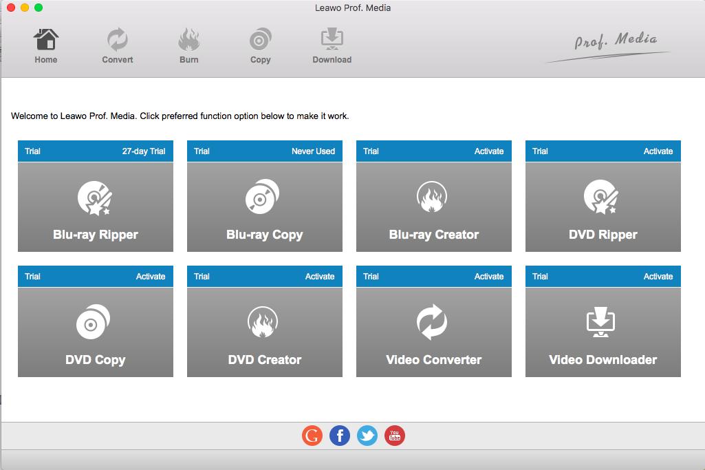 Open Leawo Video Converter for Mac