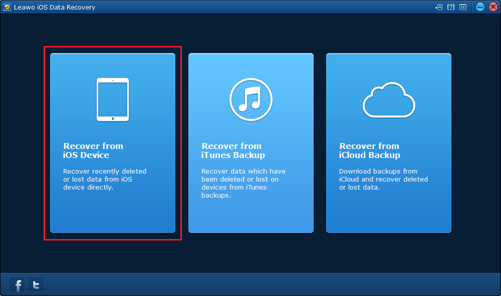 click on Recover from iOS Device