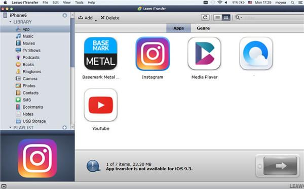 Select App Tab