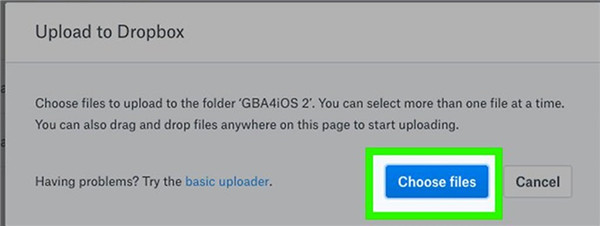 click on Choose Files