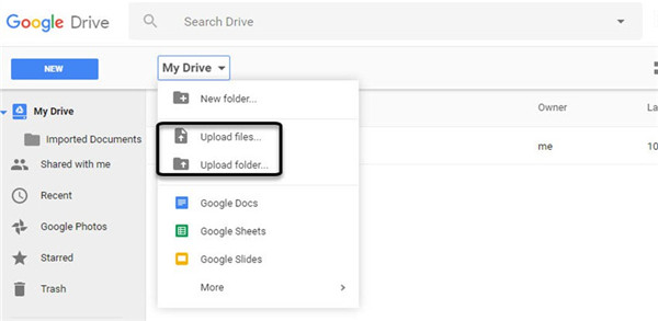 Log into Google Drive