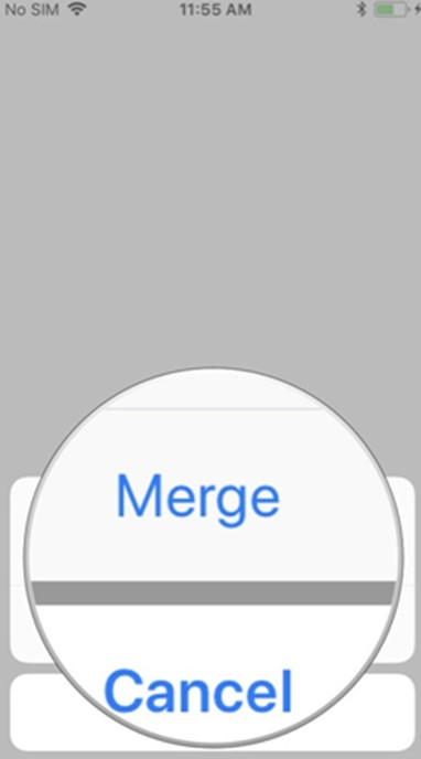 click on Merge