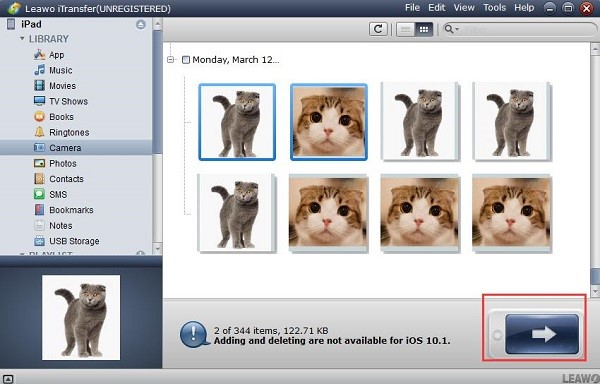Transfer your photos to your computer via Leawo iTransfer