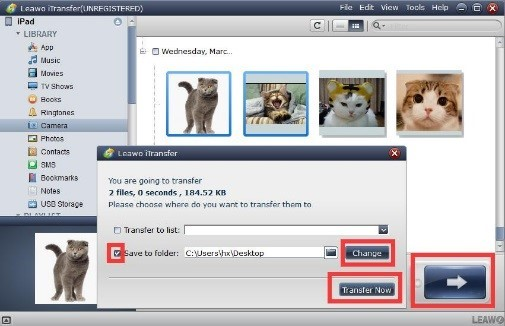Transfer your photos to the external hard drive
