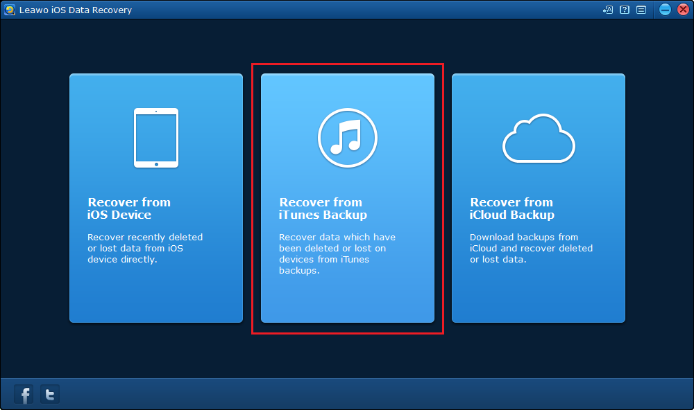 Recover data from iTunes Backup