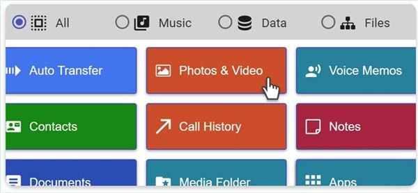 select Photos & Video