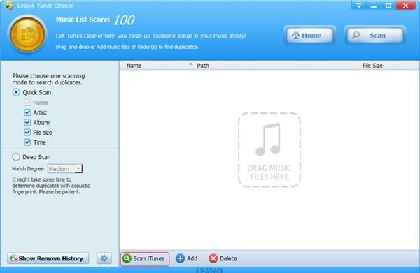 Scan iTunes