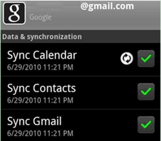 tick the option of Sync Contacts
