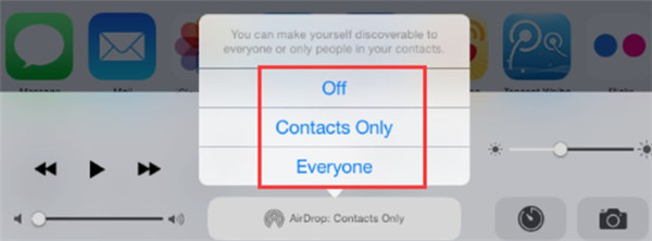 select Contacts Only or Everyone