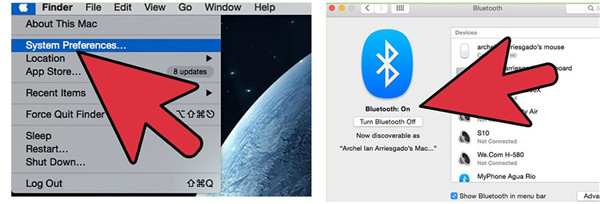 turn on the feature of Bluetooth on iMac