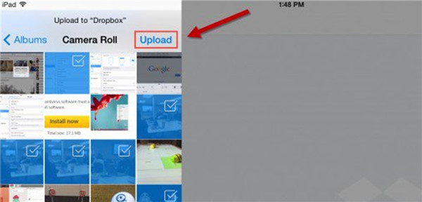 Upload Photos to Dropbox from iPad