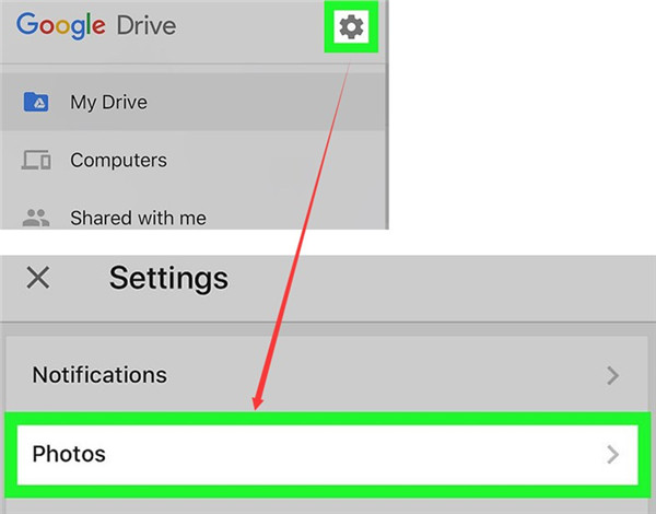 click on Photos option