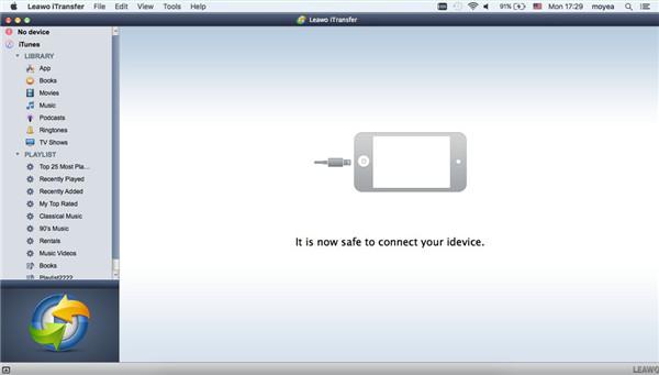 Open Leawo iTransfer for Mac