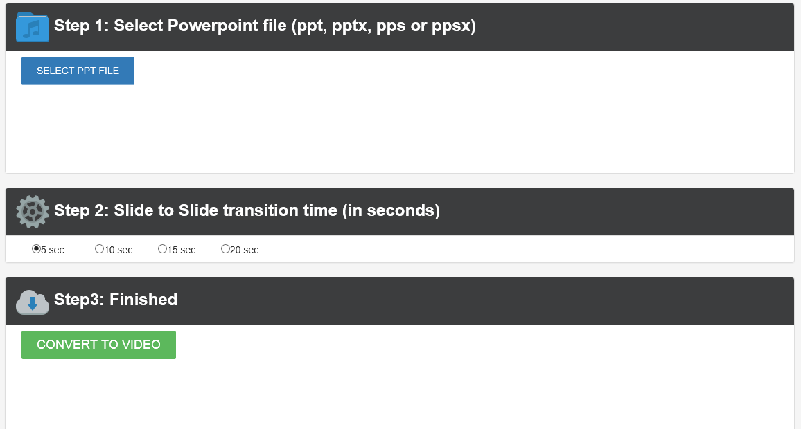 convert ppsx to Video