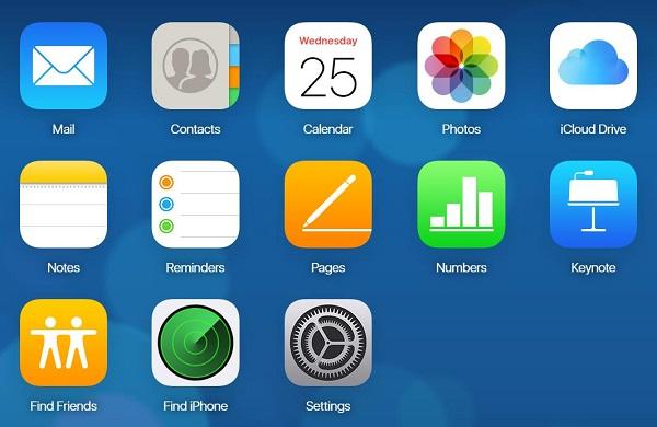 Log in to iCloud.com